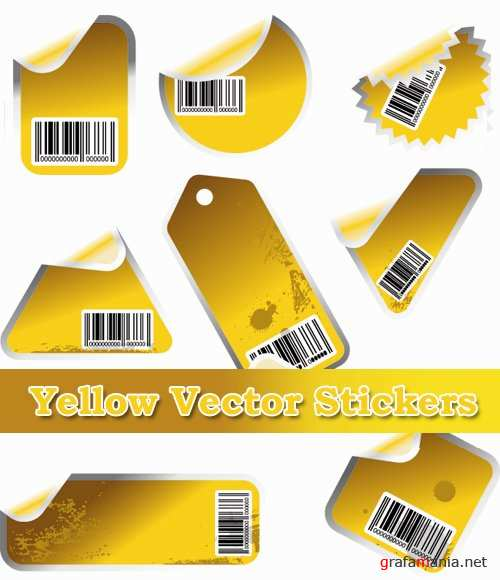 ��������� ������� - Yellow Vector Stickers
