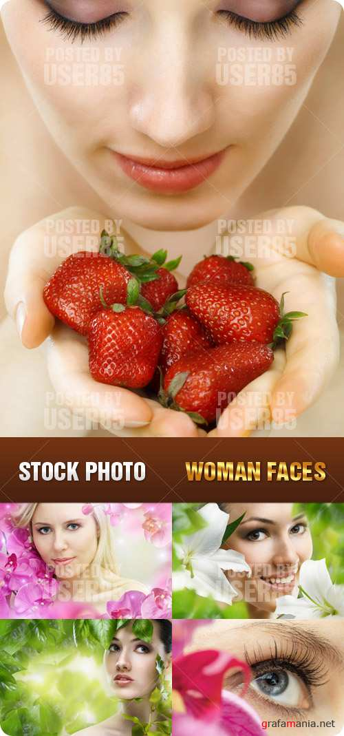 Stock Photo - Woman Faces