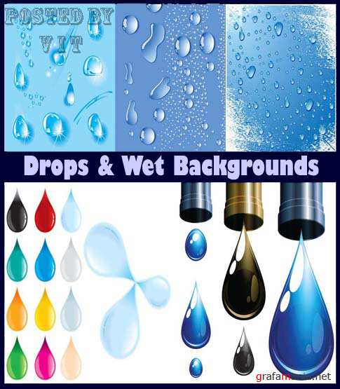 Drops and Wet Backgrounds 4