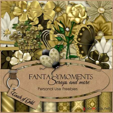 Скрап-набор - Fantasy moments: Touch of Gold