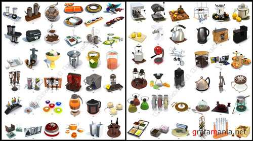 3D models Kitchen SET and Accessory