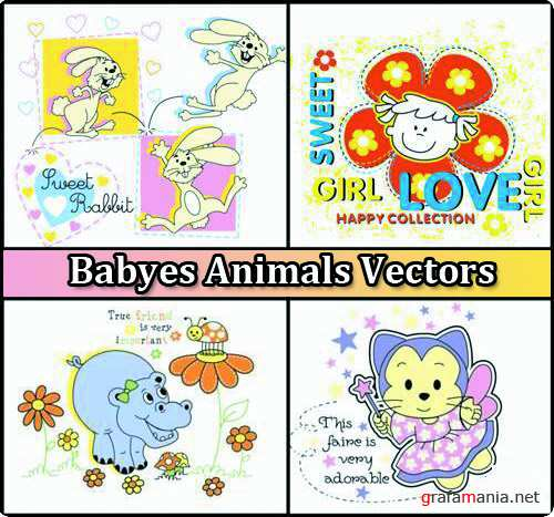Babyes Animals Vectors