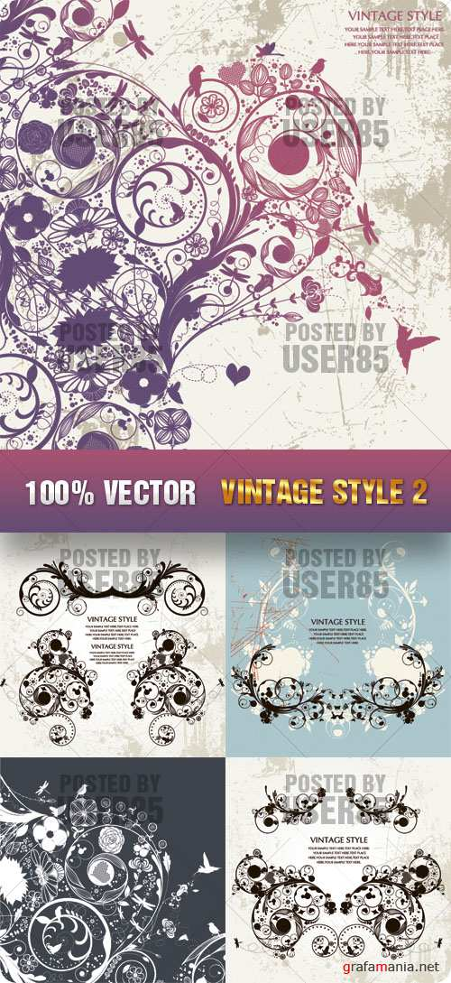 Stock Vector - Vintage Style 2