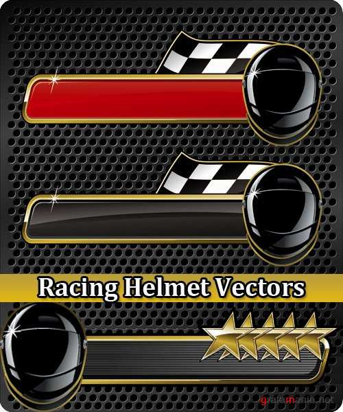 Racing Helmet Vectors