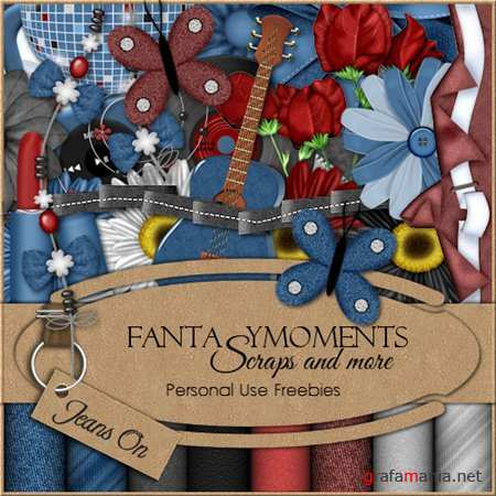 Скрап-набор - Fantasy moments: Jeans On