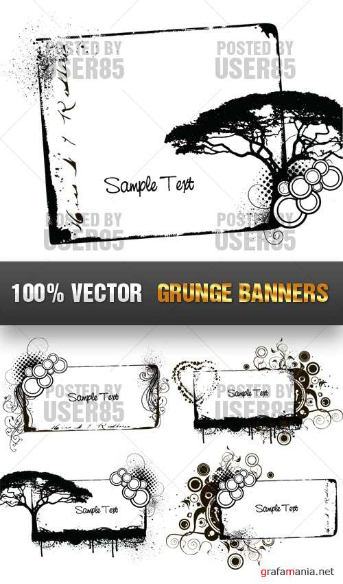 Stock Vector - Grunge Banners
