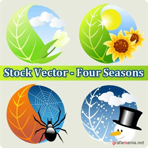 Stock Vector - Four Seasons