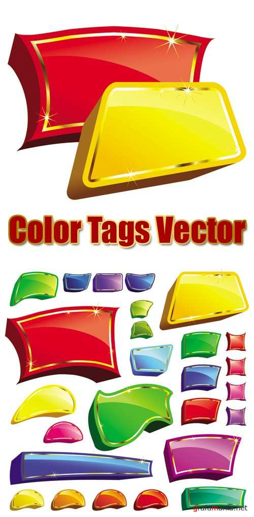 Color Tags Vector