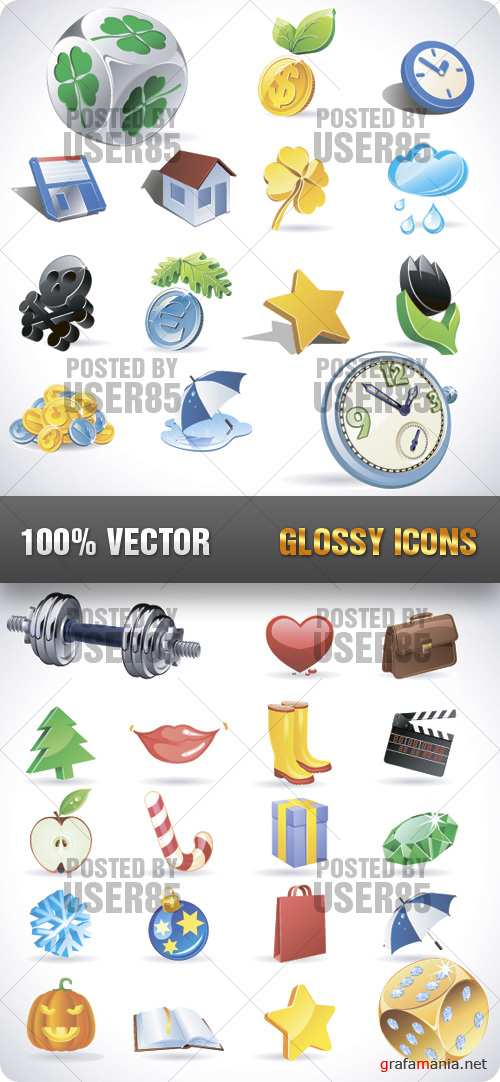 Stock Vector - Glossy Icons