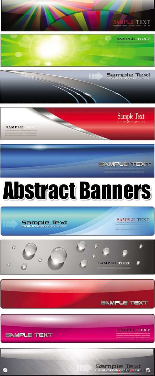 Abstract Glossy Banners Vector