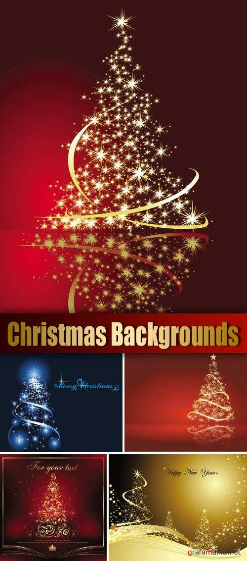 Christmas Backgrounds Vector 2