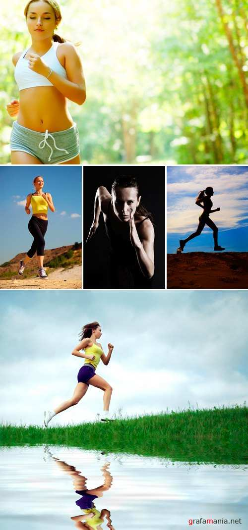 Stock Photo - Running Woman