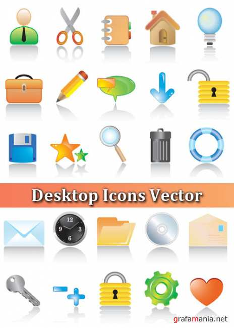 Desktop Icons Vector