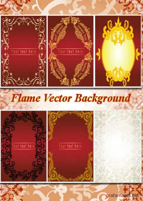 Flame Vector Background