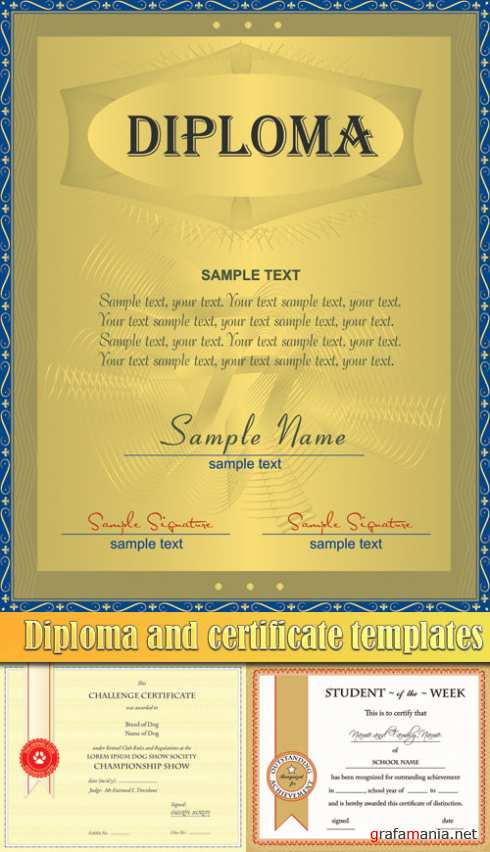 Diploma and certificate templates