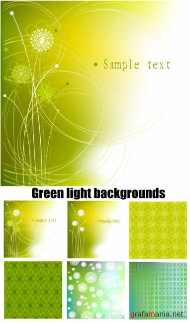 Green light backgrounds