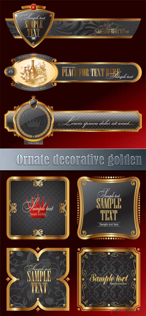 Ornate decorative golden