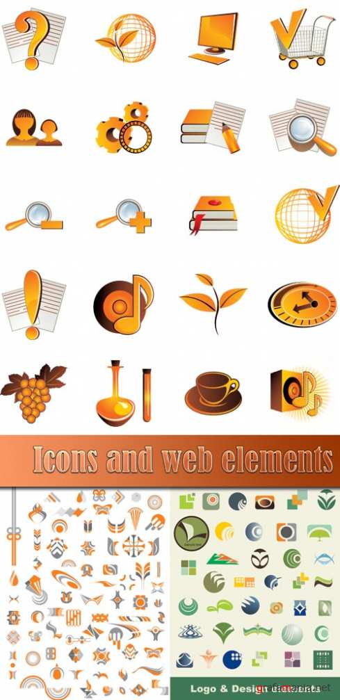 Icons and web elements