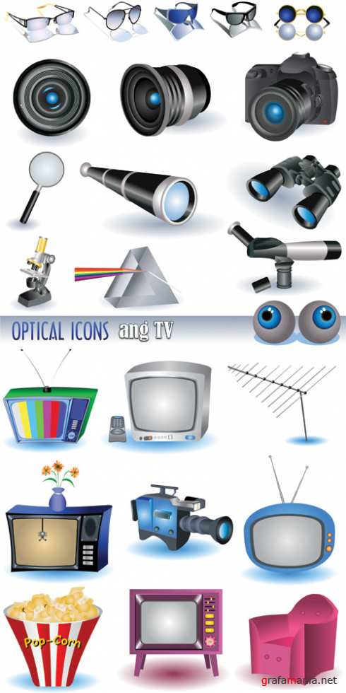 Optical and TV icon