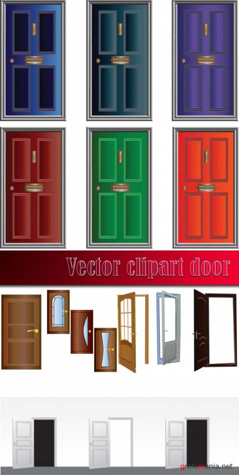 Vector clipart door