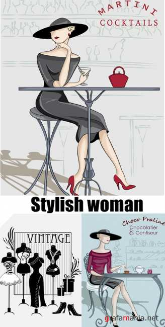 Stylish retro woman