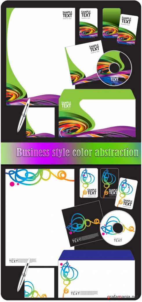 Business style color abstraction