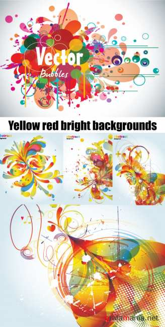 Yellow red bright backgrounds