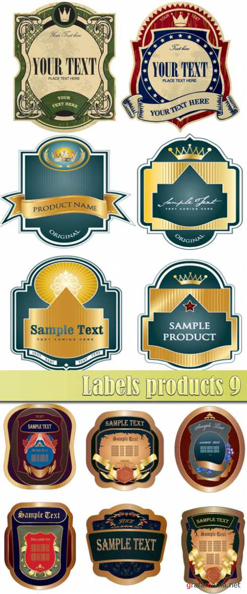 Labels products 9
