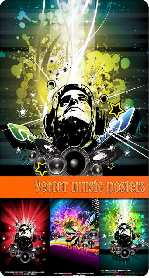 Vector music posters