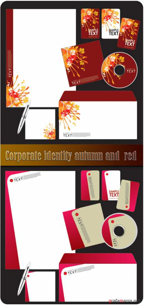 Corporate identity autumn and red
