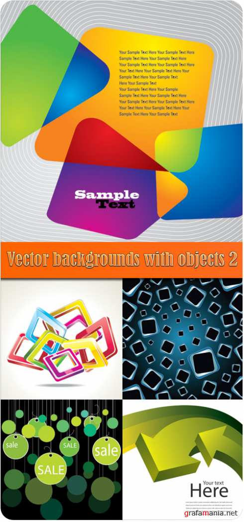 Vector backgrounds with objects 2