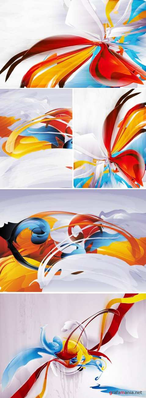 Paint Abstractions Vector