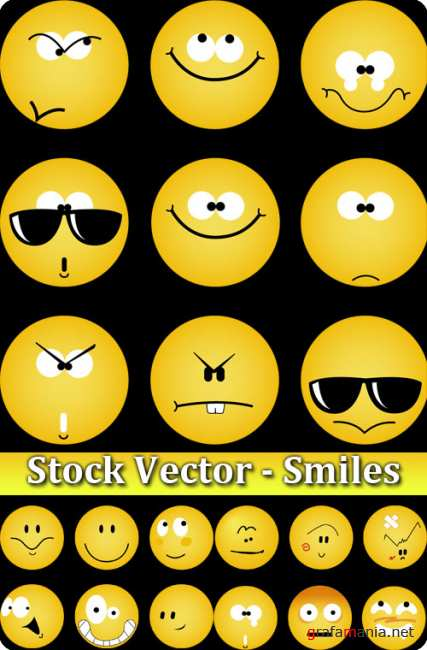 Stock Vector - Smiles