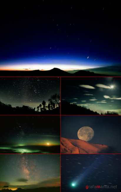 Clipart - A starry Sky & The Universe