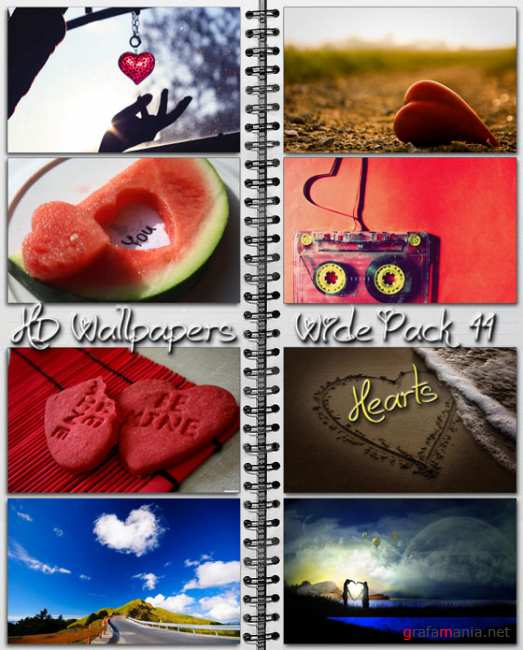 HD Wallpapers Wide Pack №44 - Hearts