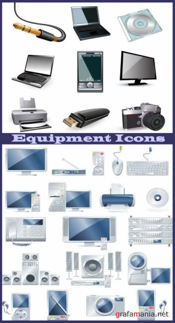 Equipment Icons vector 3