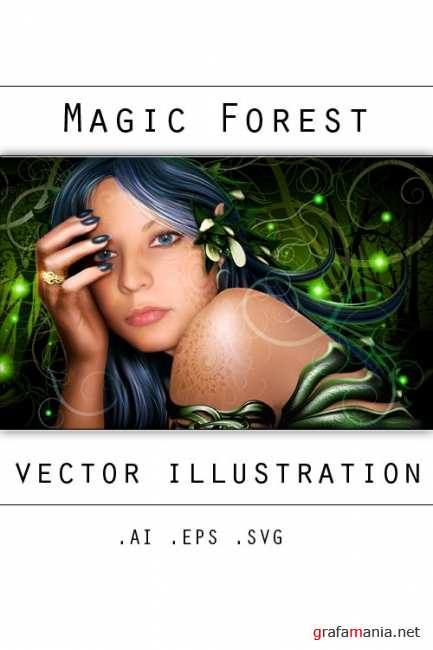 Magic forest – vector illustration