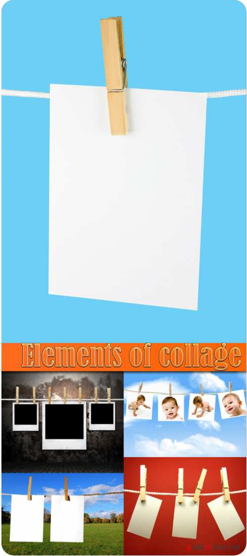 Elements of the collage
