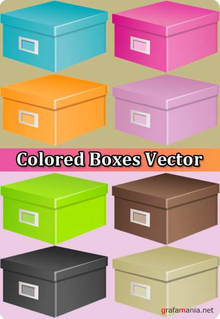 Colored Boxes Vector
