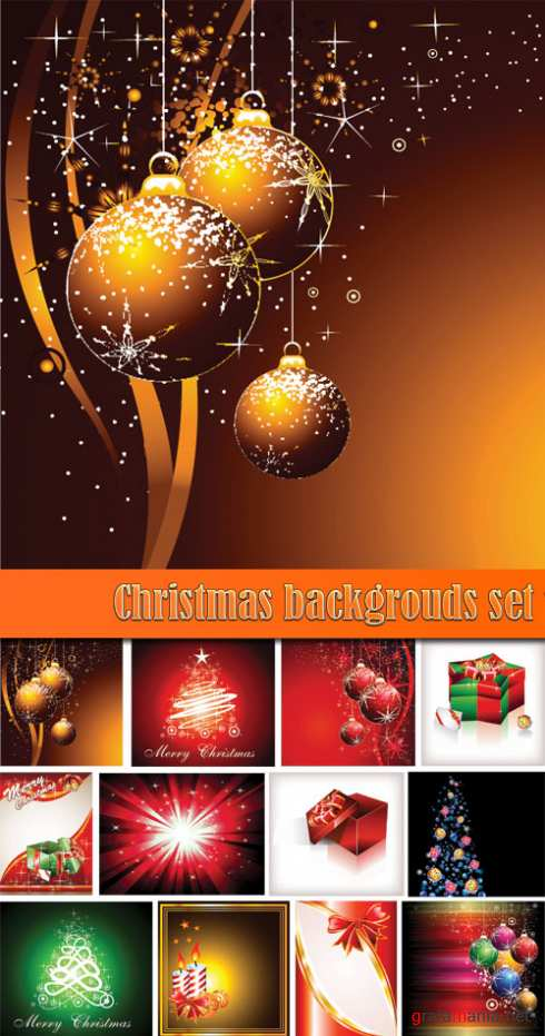 Christmas backgrouds set 1