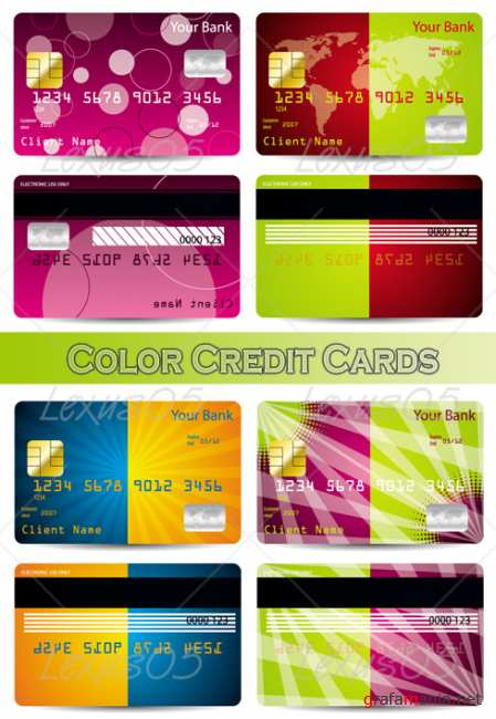 Color Credit Cards - Vectors