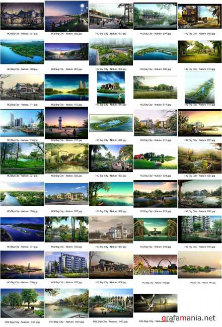 Great Collection: Big City, Nature (2009-2010) HQ PSD