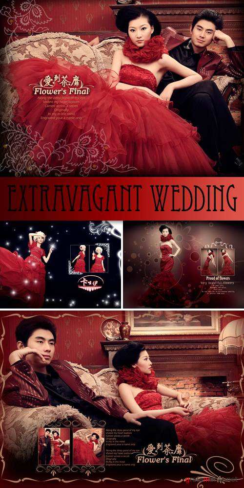 PSD Templates - Extravagant Wedding