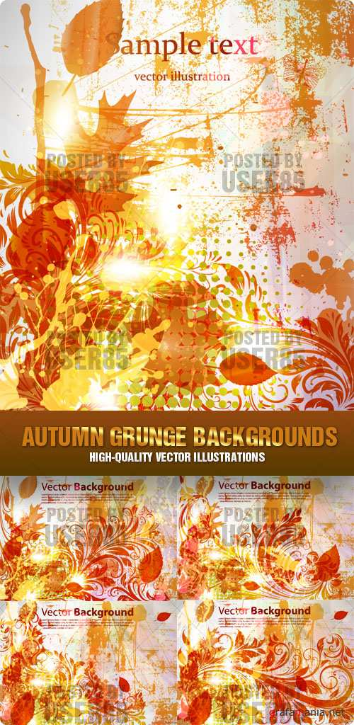 Stock Vector - Autumn Grunge Backgrounds
