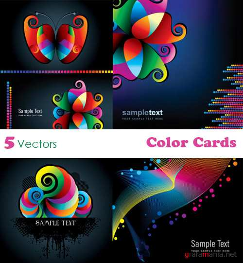 Color Cards Vectors