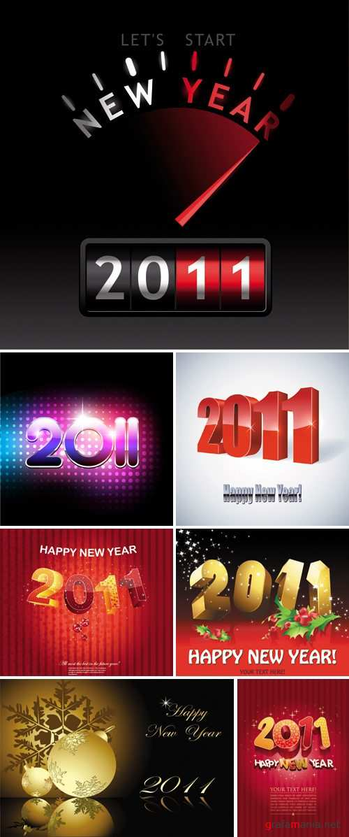 New Year 2011 Vector