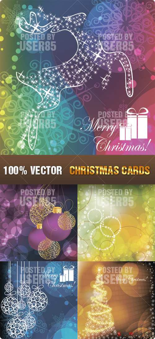 Stock Vector - Christmas Cards