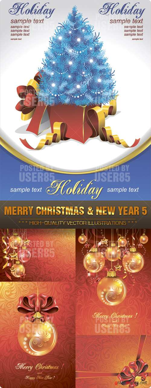 Stock Vector - MERRY CHRISTMAS & NEW YEAR 5