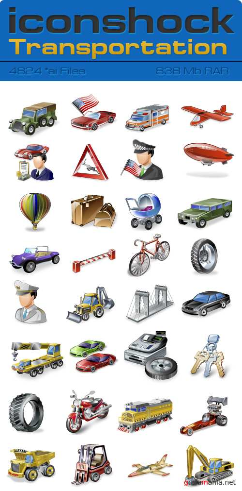 IconShok - Real Vista Transportation Illustrator Sources