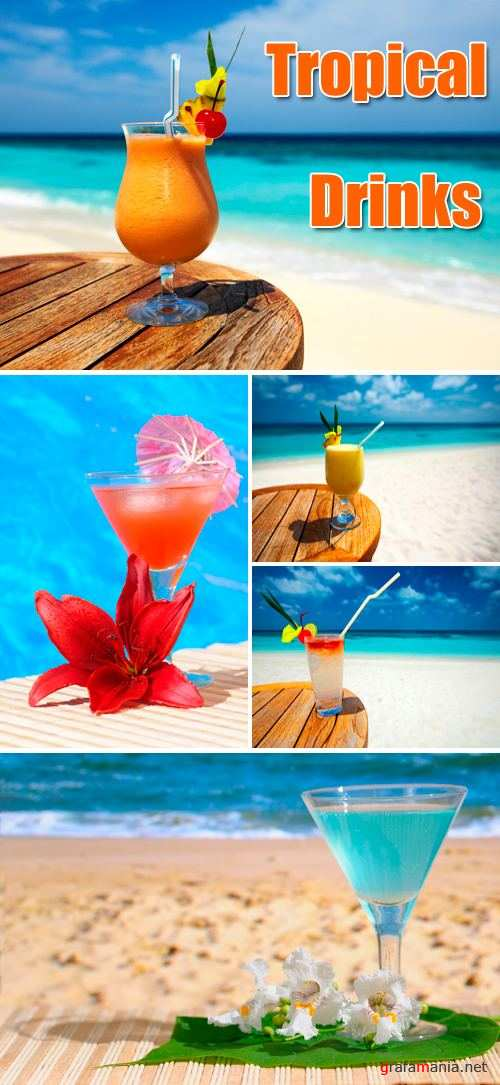 Stock Photo - Tropical Drinks